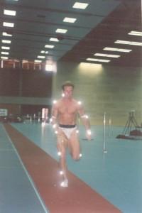 EMG in sprinter Miquel Jansen at maximum speed