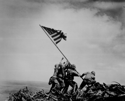 The flag at Iwo Jima
