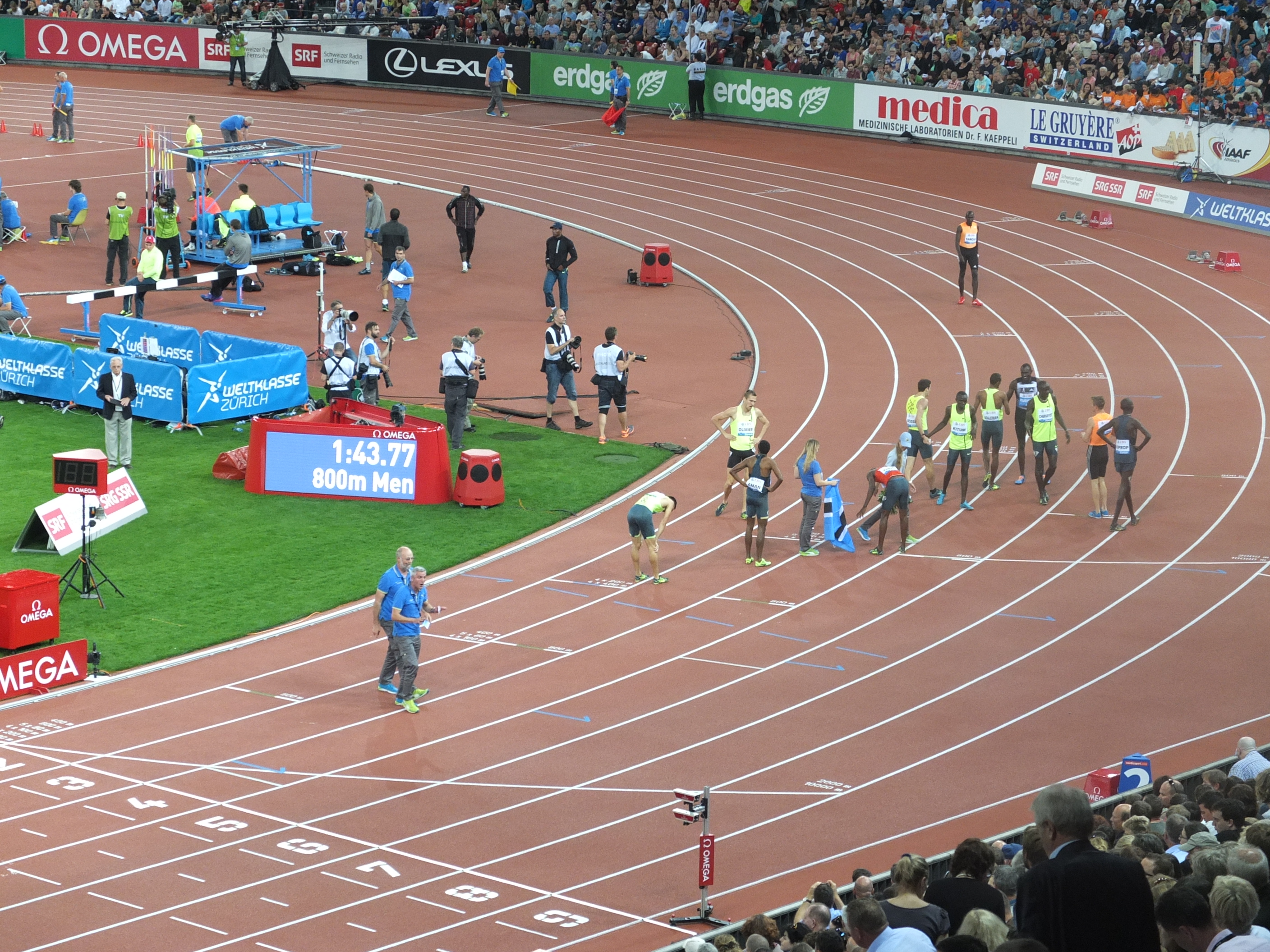 After the 800 meter race in Zurich