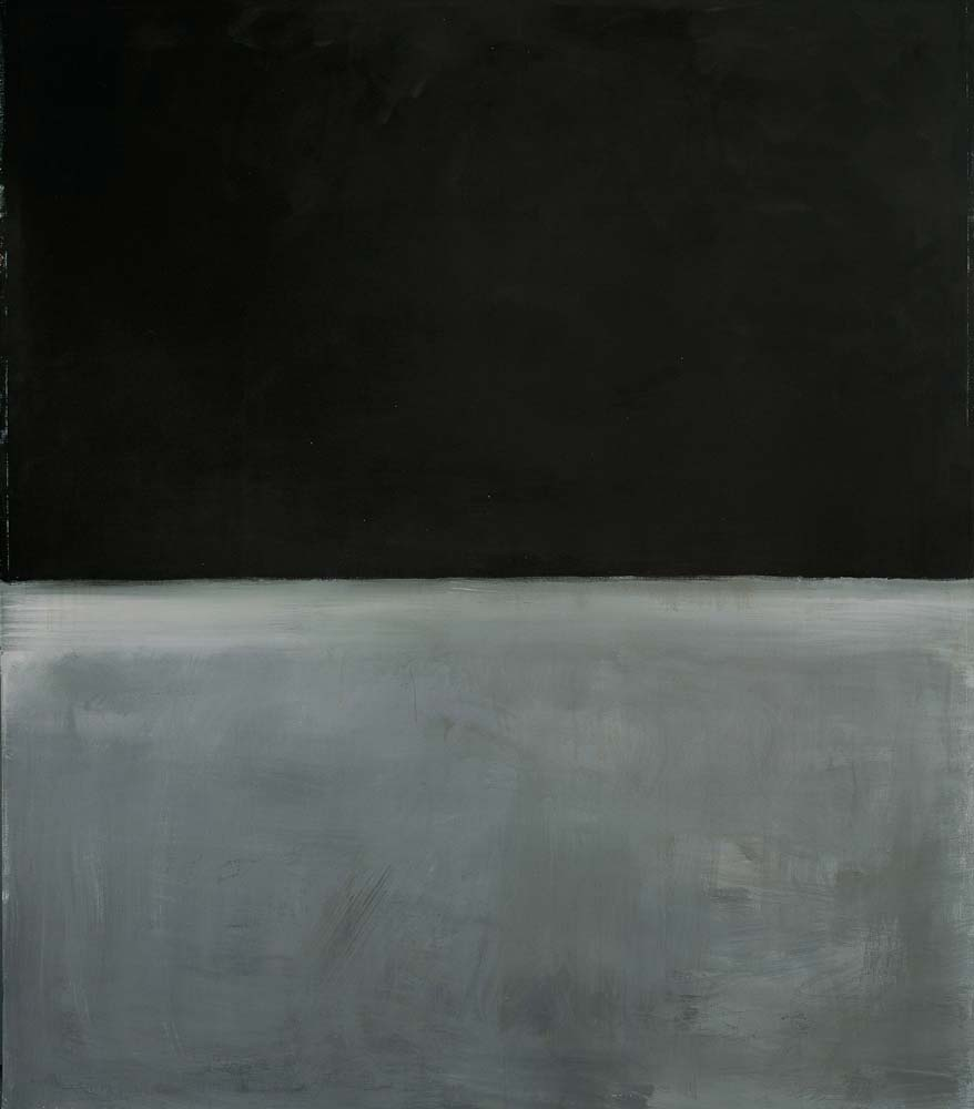 Mark Rothko: black on grey