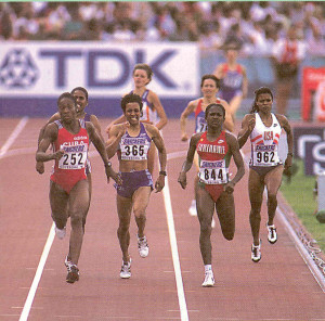 Letitia going for silver in 1.56.65 World Championships 1995 Goteborg (2nd from right)