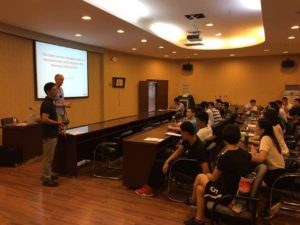 Lecturing in Shanghai