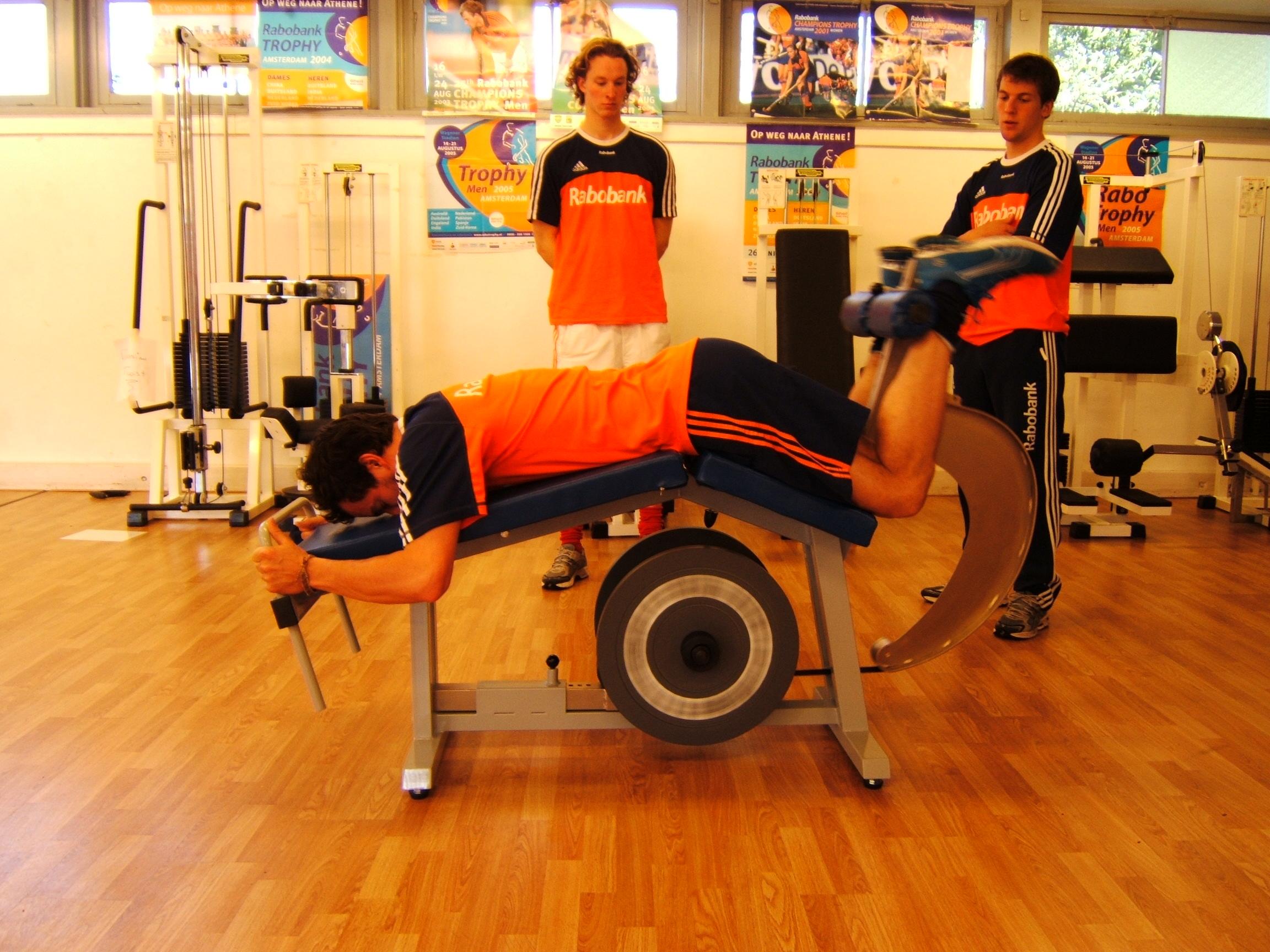 Yo-Yo leg curl used by Dutch Olympic Field Hockey Team men